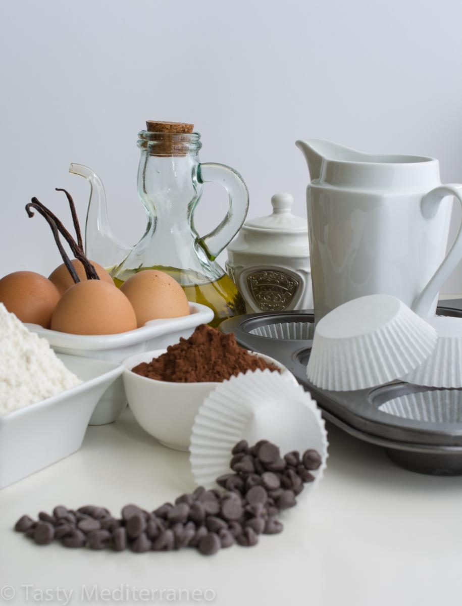 Tasty-Mediterraneo-easy-Chocolate-almond-milk-Muffins-olive-oil-recipe-ingredients