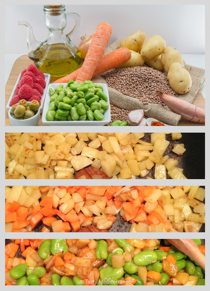 Tasty-mediterraneo-lentils-raspberry-salad-recipe-vegan-meal-