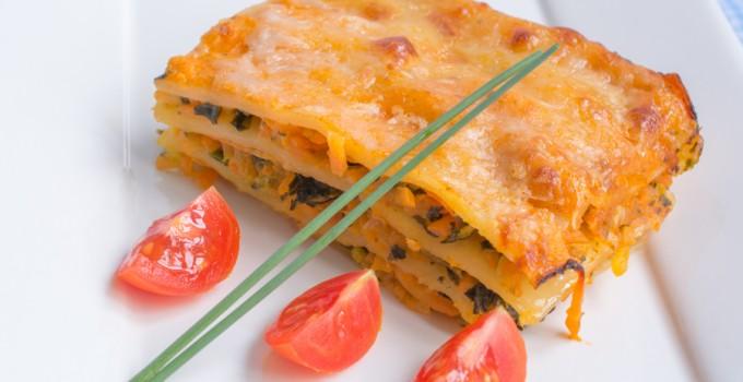 Lasagne aux Courgettes, Epinards et Carottes
