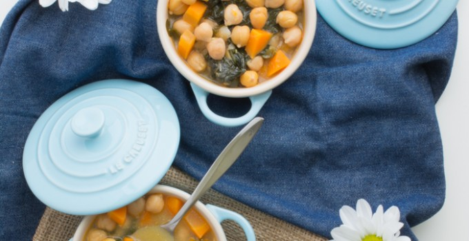 Spanish chickpea & spinach stew