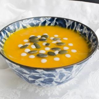 Crema de calabaza asada y naranja