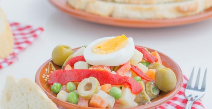 Salade russe végétarienne