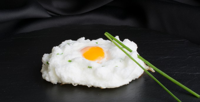 Egg cloud with chives