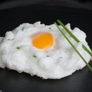 Nuage d'œuf à la ciboulette