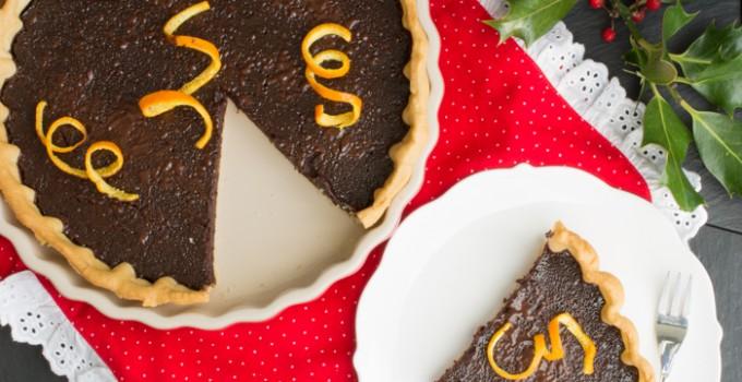 Dark chocolate and orange zest tart