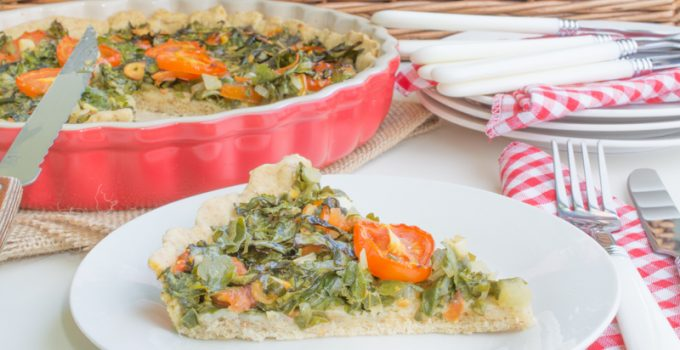 Flatbread with parsley & vegetables