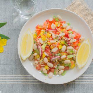 Salade méditerranéenne aux haricots blancs