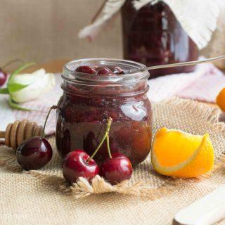 Irish cherries & orange chia jam