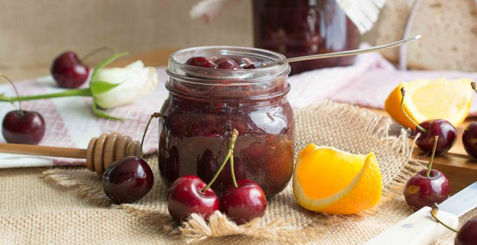 Irish cherries & orange chia jam