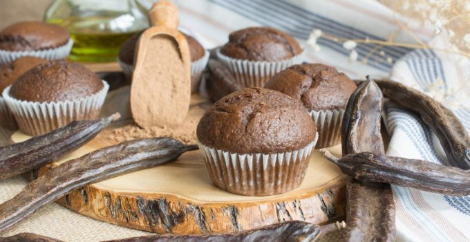 Carob & EVOO muffins
