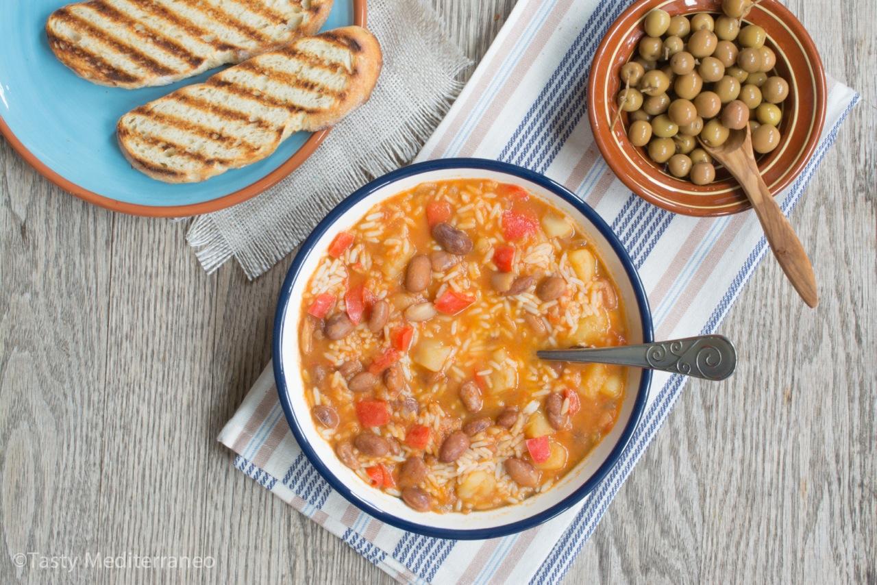 Jud as pintas con arroz tasty mediterraneo - Guiso de judias pintas ...