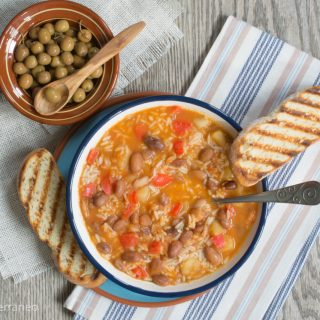 Pinto bean & rice soup
