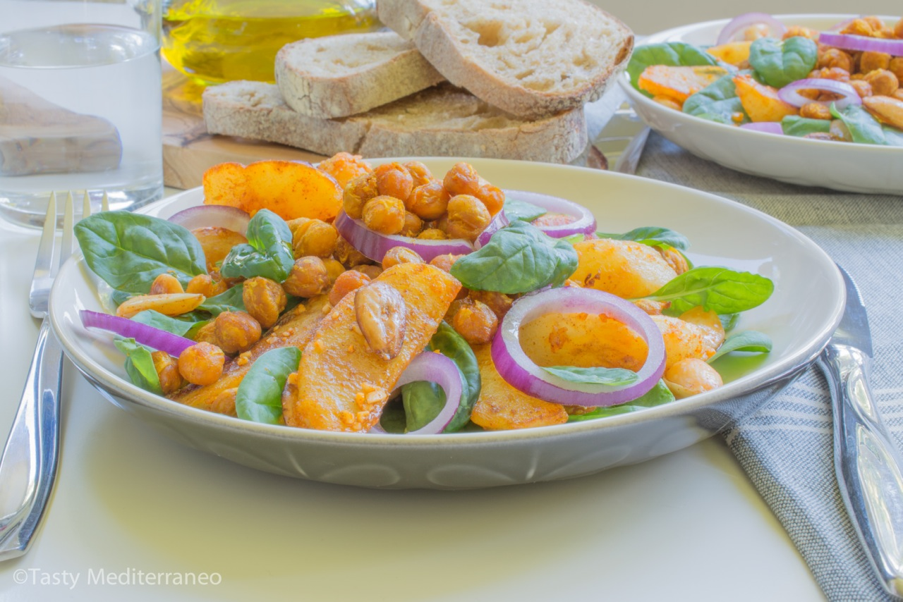 tasty-mediterraneo-chickpea-almond-potato-salad