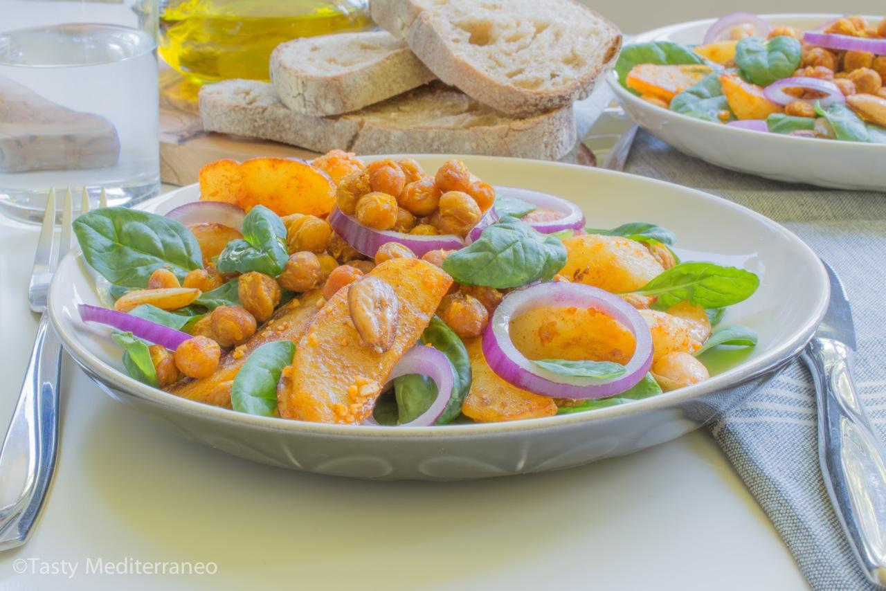 tasty-mediterraneo-chickpea-almond-potato-salad