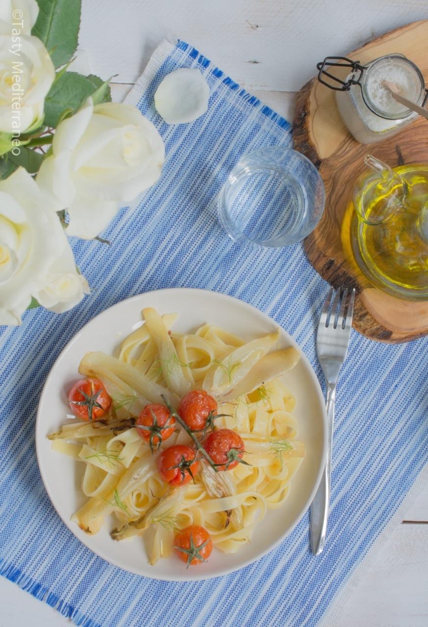 tasty-mediterraneo-roasted-fennel-tomato-tagliatelle
