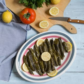 Lebanese stuffed Swiss chard leaves
