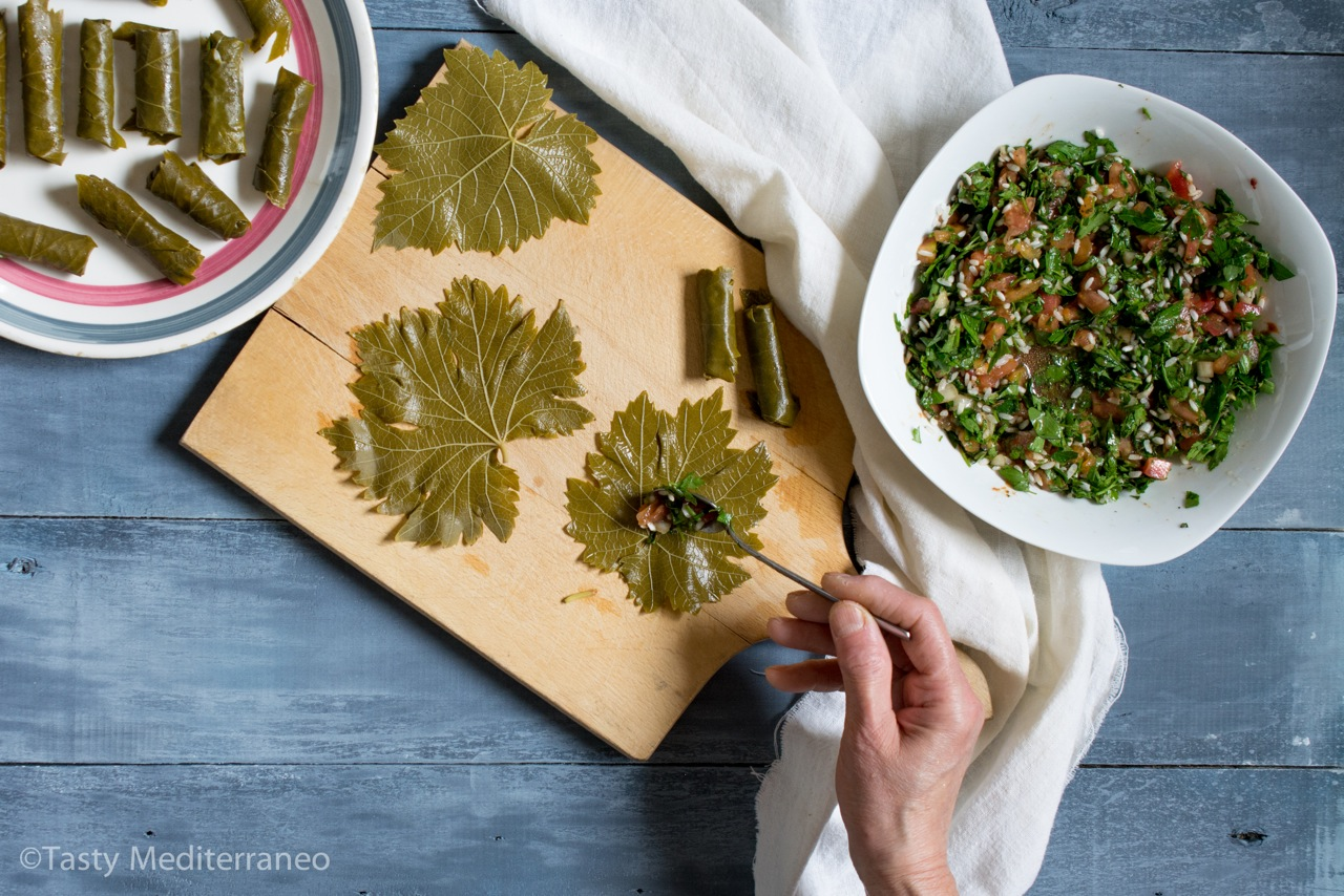 Lebanese Stuffed Grape Leaves Vegan Tasty Mediterraneo