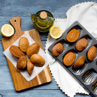 EVOO, yogurt & lemon zest madeleines
