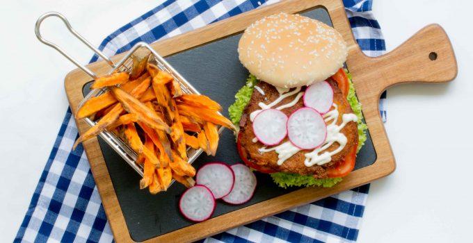 Falafel burger avec sauce tarator libanaise