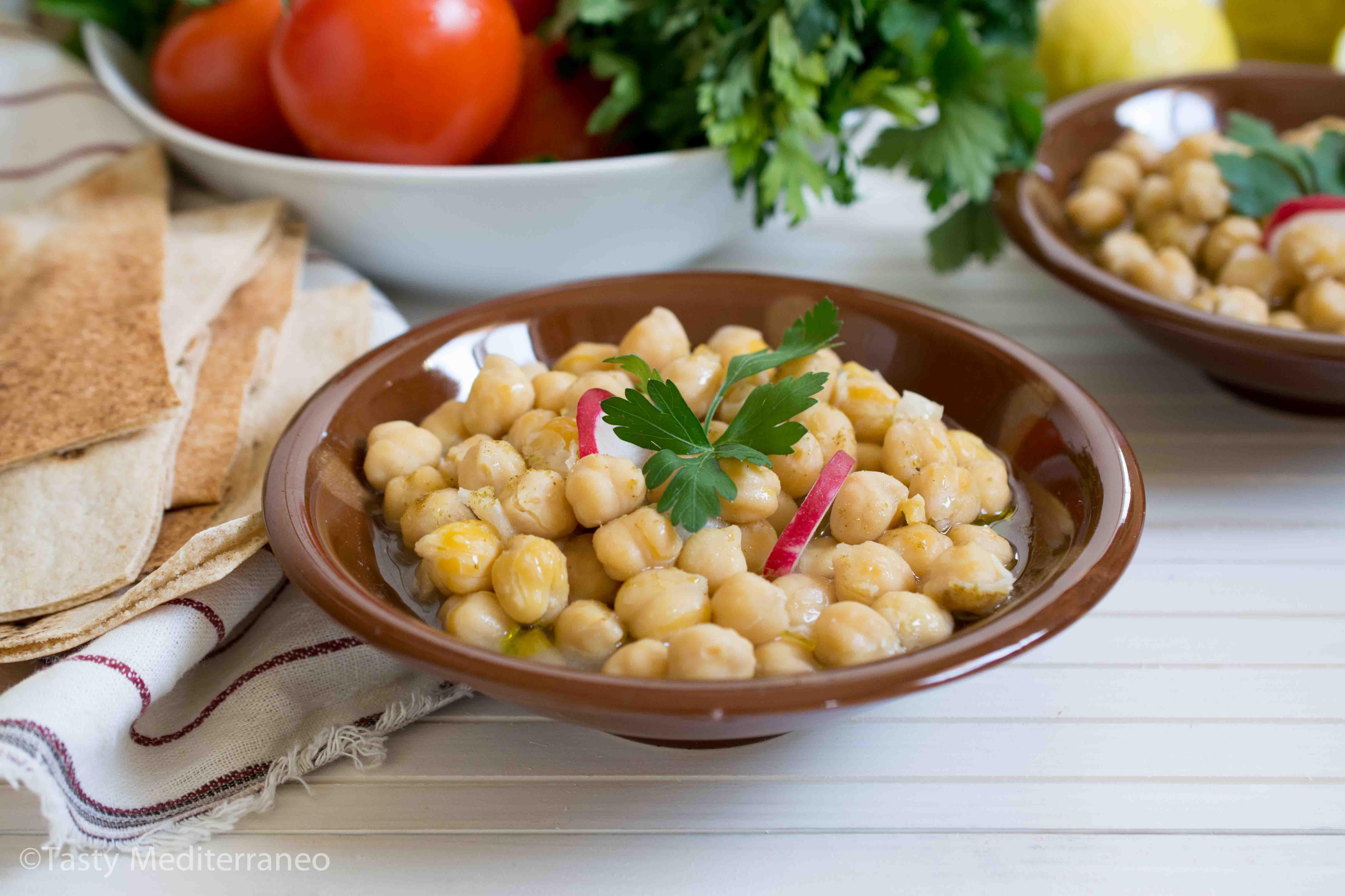 حمص بليلة Tasty Mediterraneo