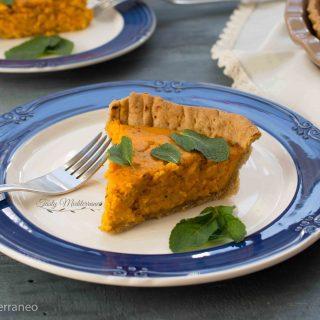 Mediterranean pumpkin, feta & mint quiche