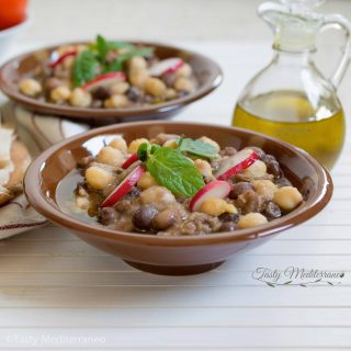 Lebanese foul moudammas with chickpeas