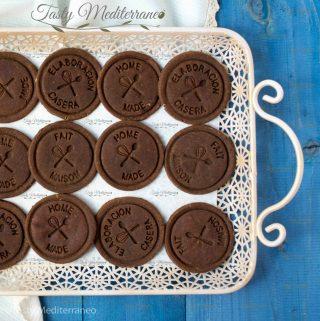 Biscuits végétaliens de pois chiches au chocolat