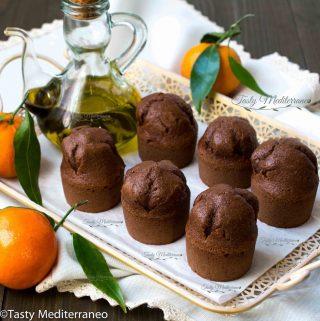 Muffins à la mandarine, cacao et huile d'olive