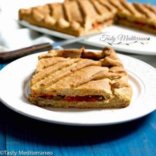Empanada de Pisto Manchego Vegana